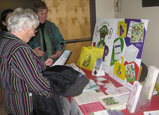 "Outreach display of ""Look Before You LEAP"" educational materials were showcased during the reception held before film screening."