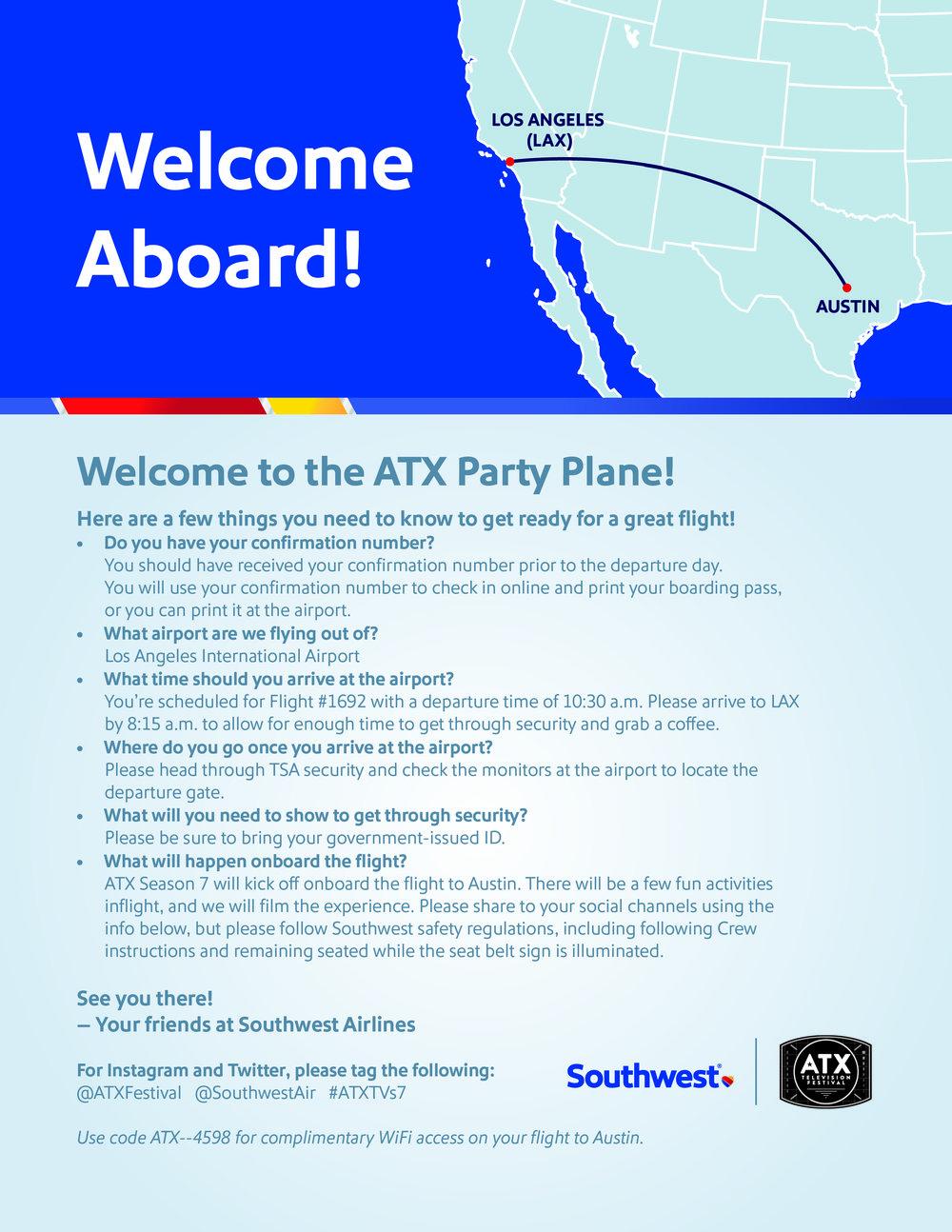 ATX Party Plane Invite