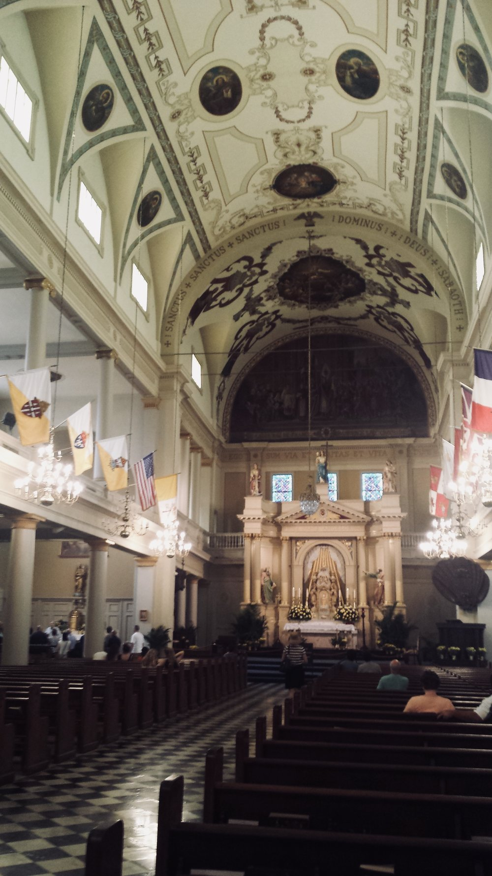 Inside the St. Louis Cathedral