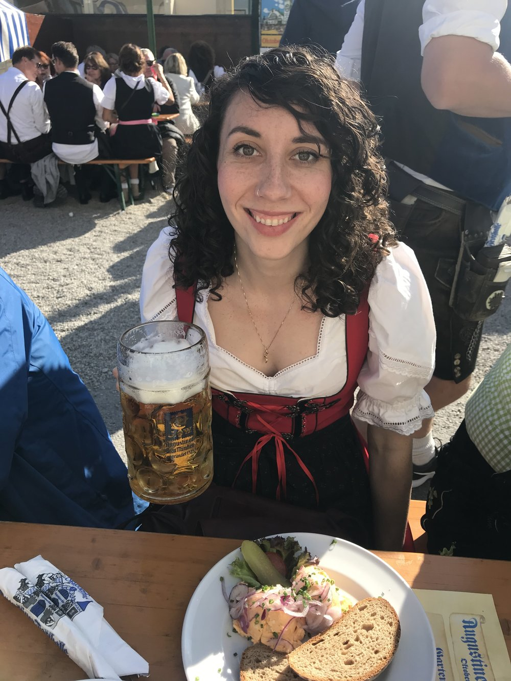 Here's a picture of me at real Oktoberfest a few weeks ago!