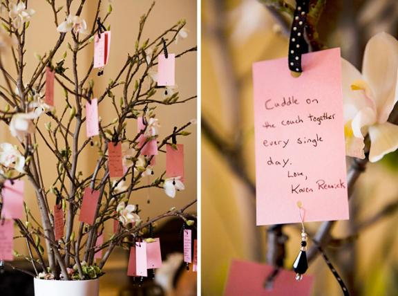 Diy creative guest books sign here val vista lakes events purchase a small tree such as a cherry blossom or manzanita maybe even some bamboo depending on your wedding theme and have your wedding guests place solutioingenieria Images