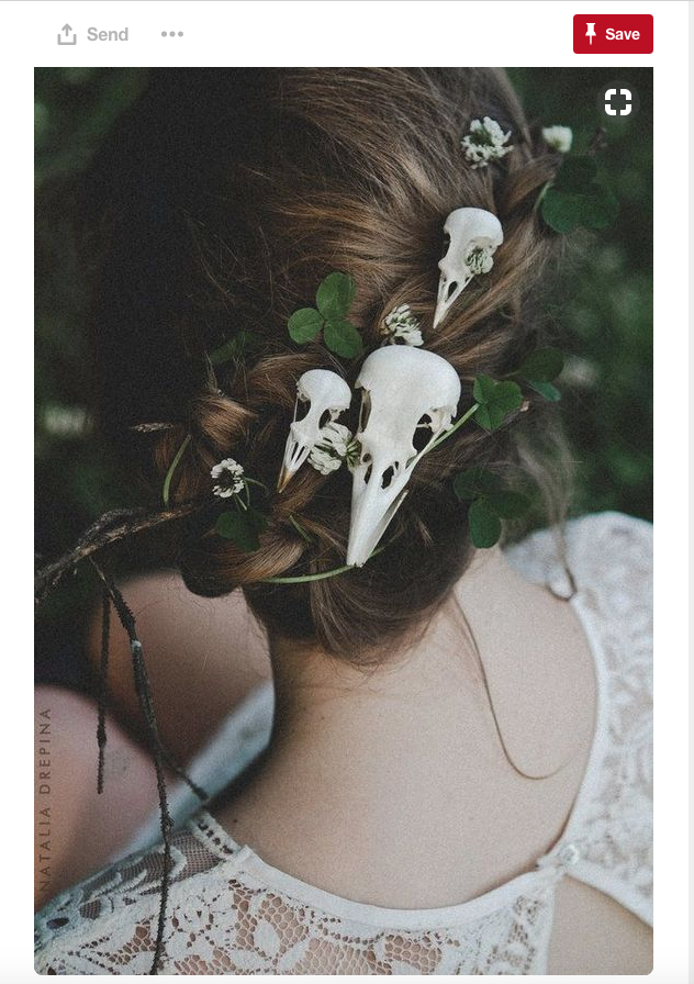 This might not be for everyone, but it is definitely a unique Halloween wedding idea!