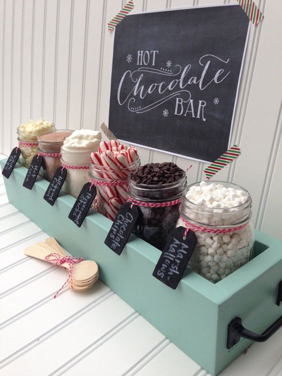 At your Gilbert wedding, consider letting the guests make their own hot chocolate concoctions. Let them choose between gourmet brands and sweet treats!