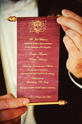 How about a royal wedding invitation like nothing they've ever seen?