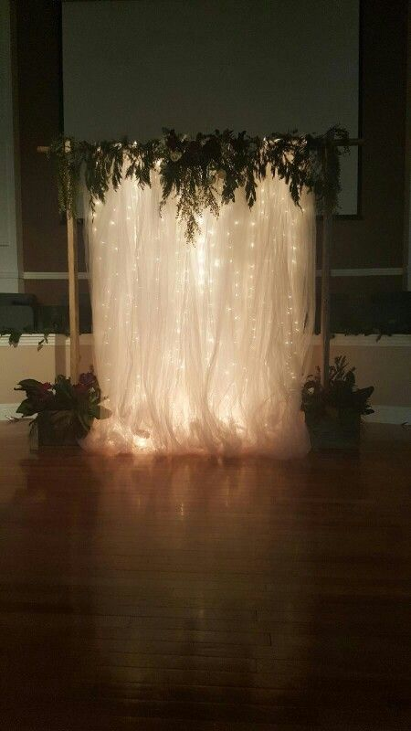 Consider giving your guests a great wedding photo backdrop with beautiful, subtle string lights.
