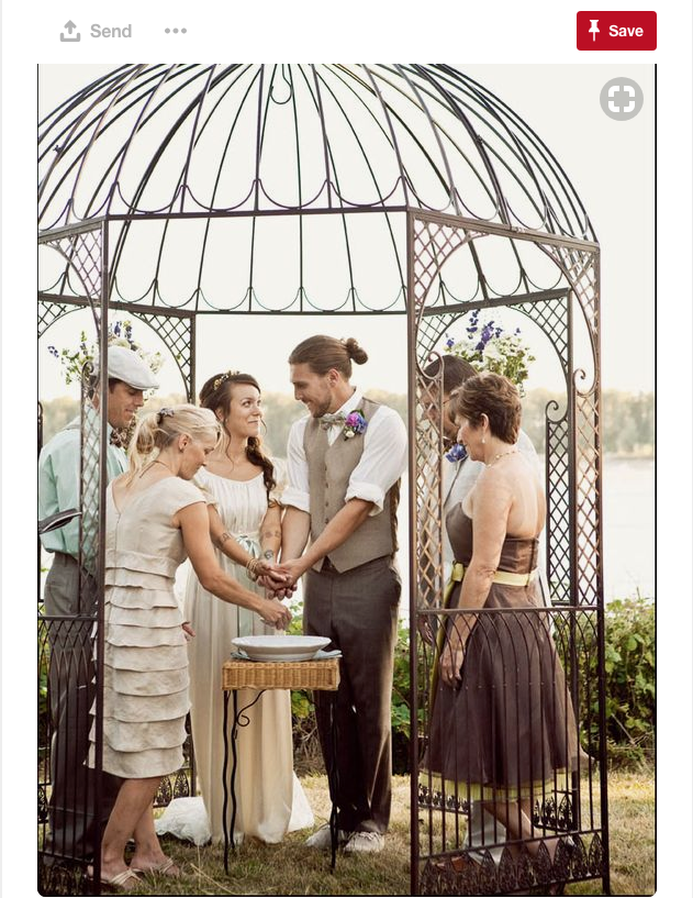 You can get married in a beautiful love bird cage!