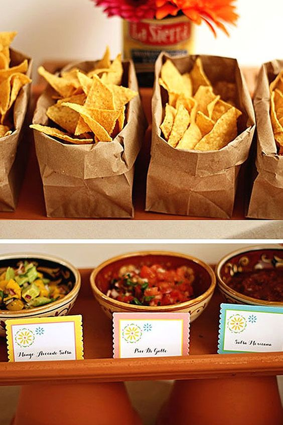 You can't have a taco bar without a variety of salsas!