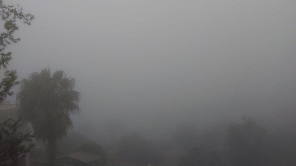 Morning fog in Ramallah