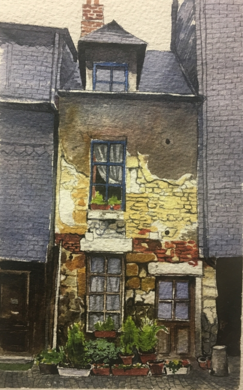"""Home"" - Watercolor by Alessandro Phaess"