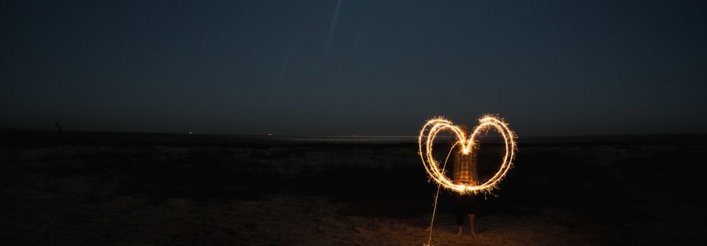 Light painting on the beach at Little Tybee Island via micahdeyoung.com