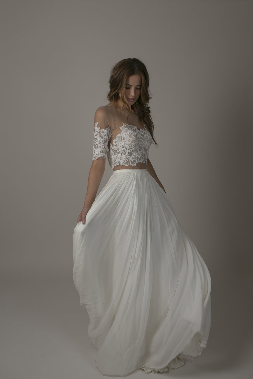 SARAH SEVEN BRONTE BOHO WEDDING DRESS