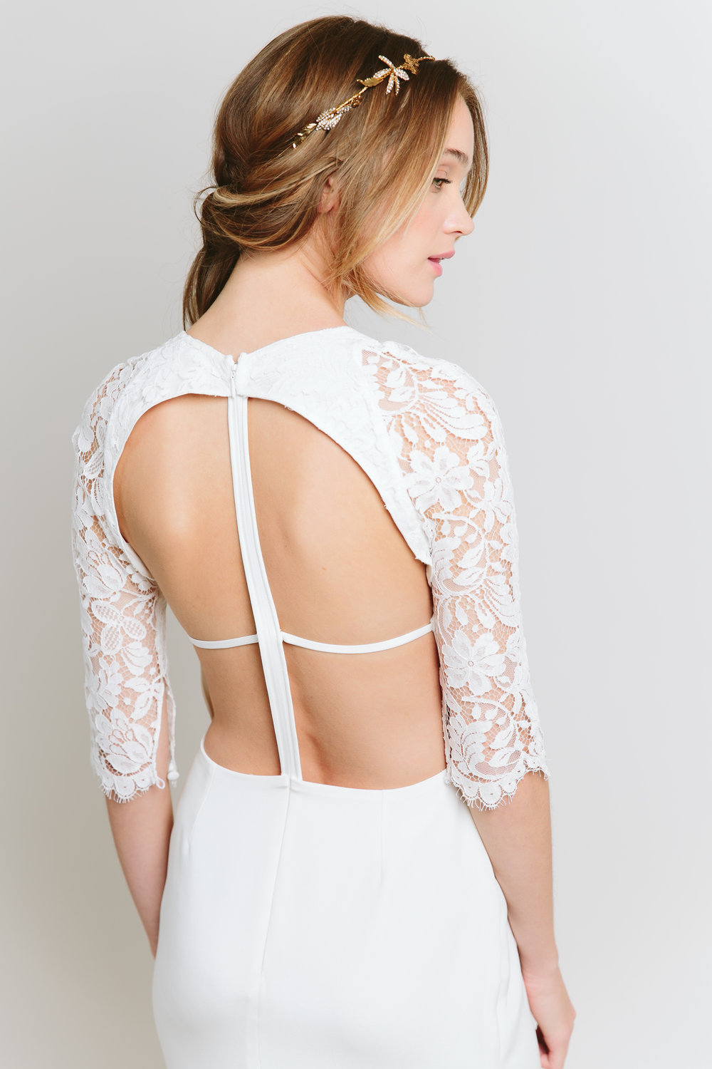 sarah seven unique back wedding dress