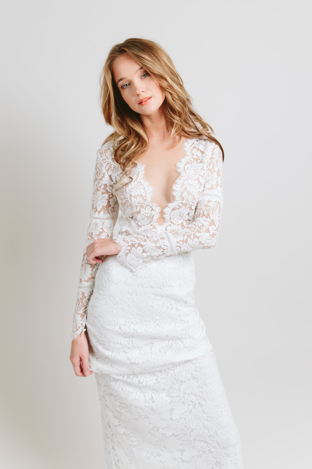 sarah seven long sleeve wedding dress
