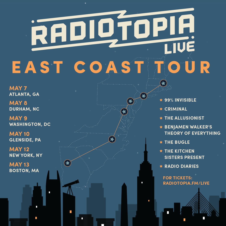 Radiotopia-News-Announcing: Radiotopia Live East Coast Tour!