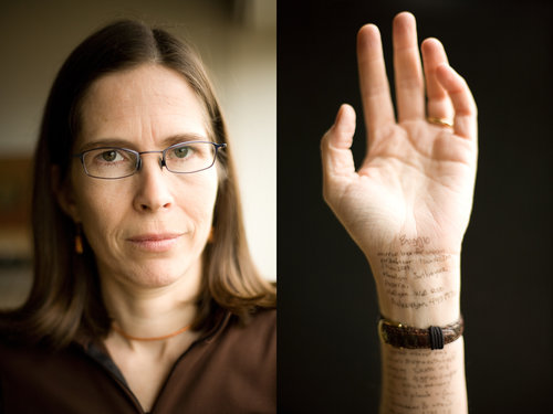 Alice Flaherty would often write on anything available to her, including her own skin.