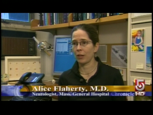 Alice Flaherty was being interviewed regularly in the 1990's.