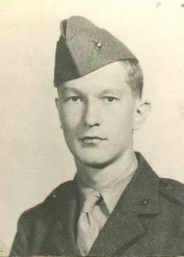 William Styron in his Marine Corps uniform. He served in two wars before winning a Pulitzer Prize. Photo Credit: Special Collections. Duke University Library.