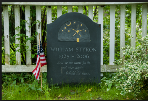 Styron's grave, with a quote from his translation of Dante.