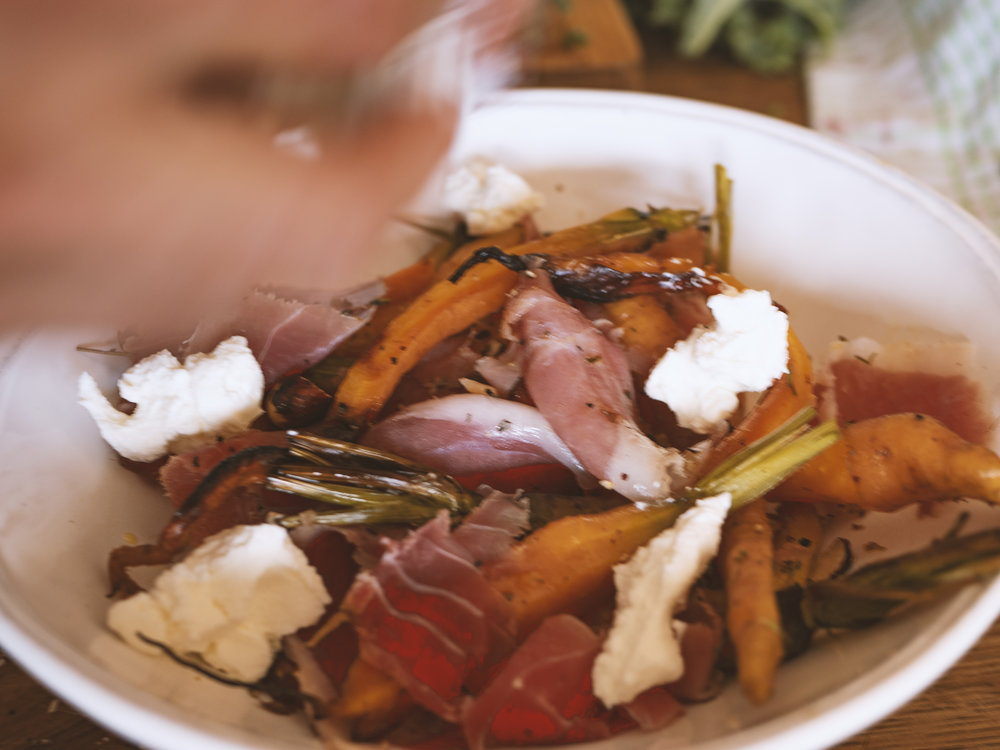 carrot and proscuitto salad