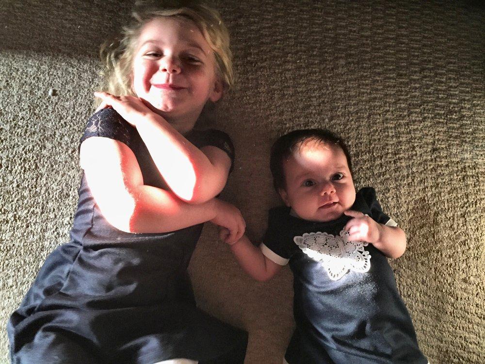 sisters twinning © mebecomingmum