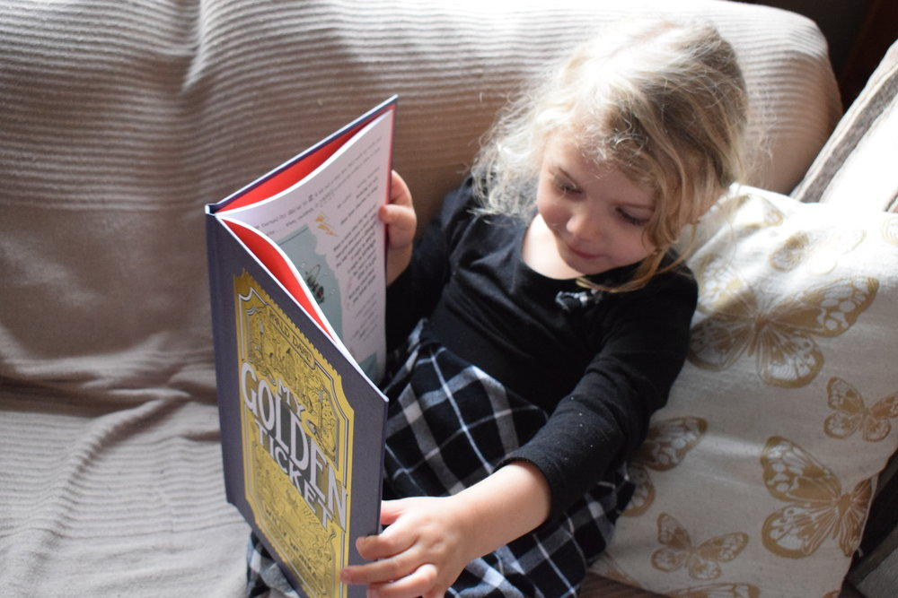 personalised wonderbly my golden ticket book