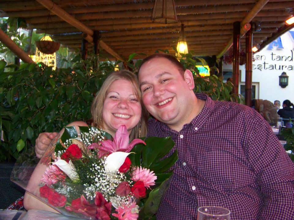second wedding anniversary couple