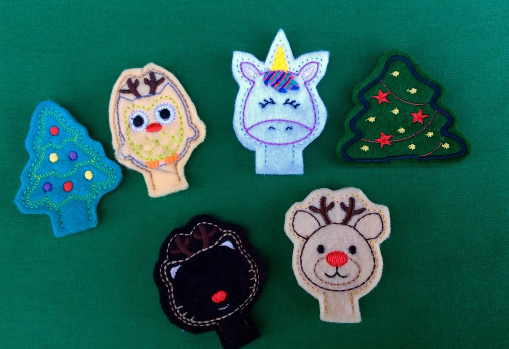 Stitch Love by Hazel Christmas Pencil Toppers