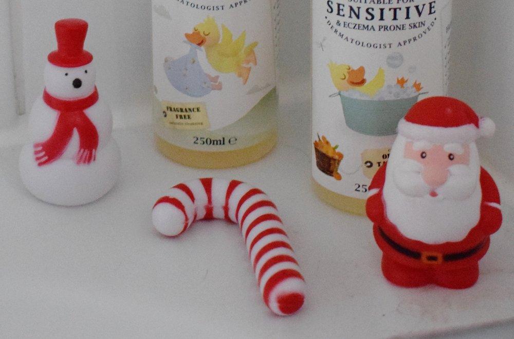 Christmas bath toys