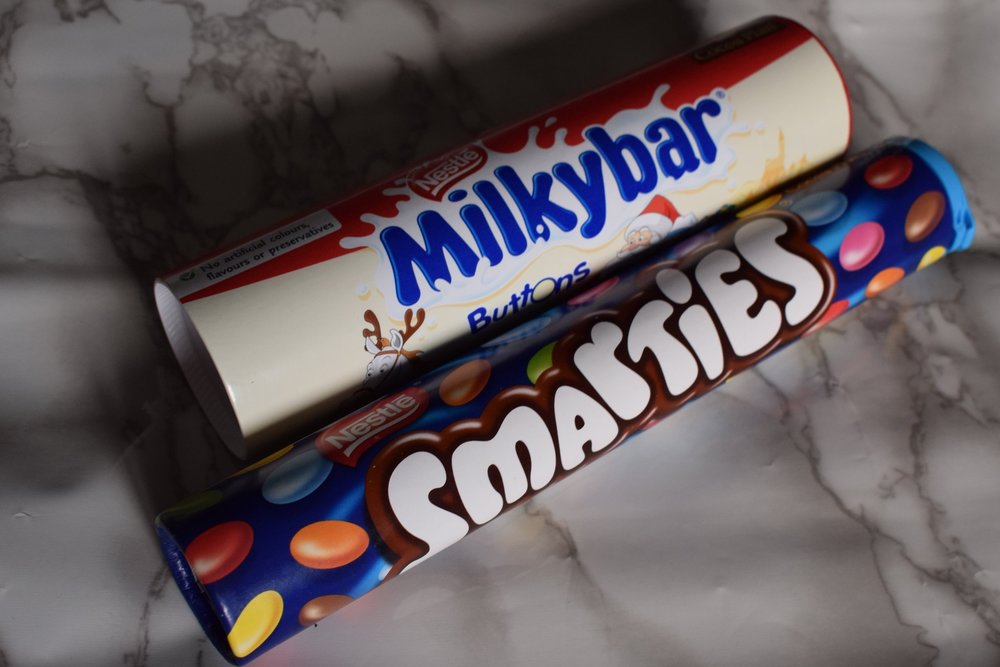 nestle milkybar buttons smarties sweet chocolate tubes