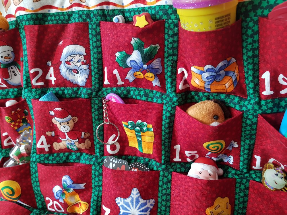 Fill it yourself Christmas advent calendar