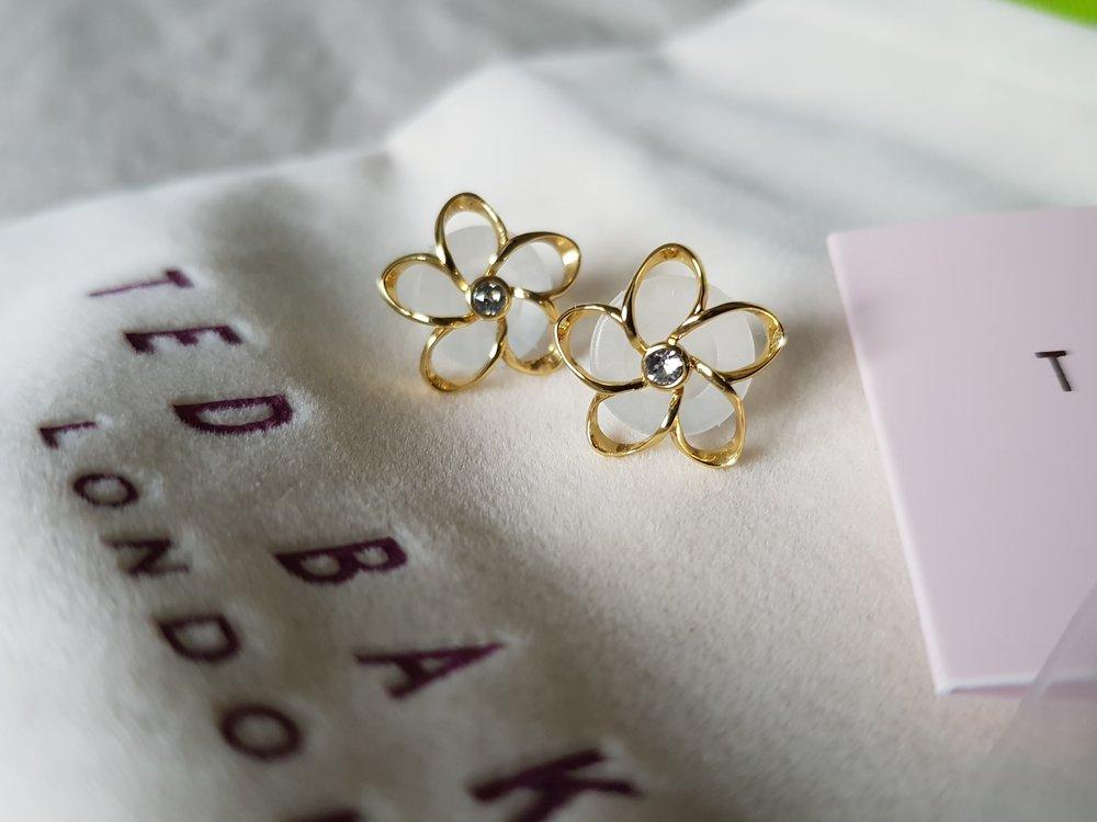 Ted Baker crystal bloom earrings