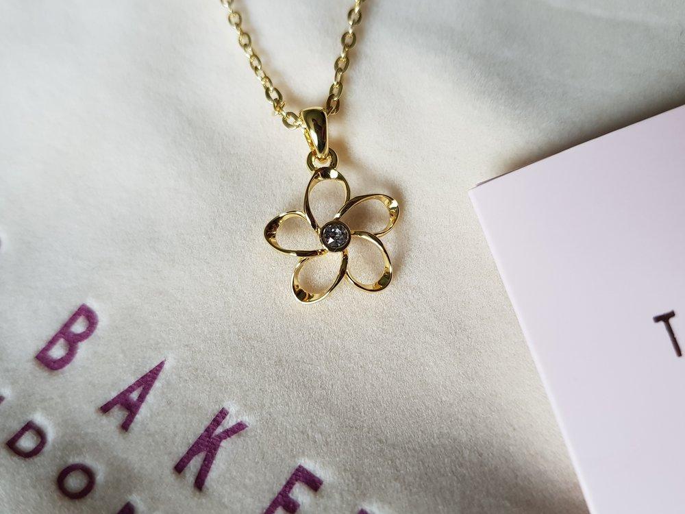 Ted Baker crystal bloom necklace