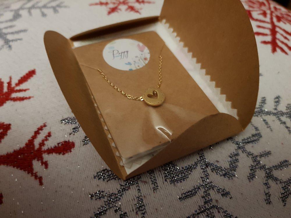 Poppy Locket cut out heart pendant necklace