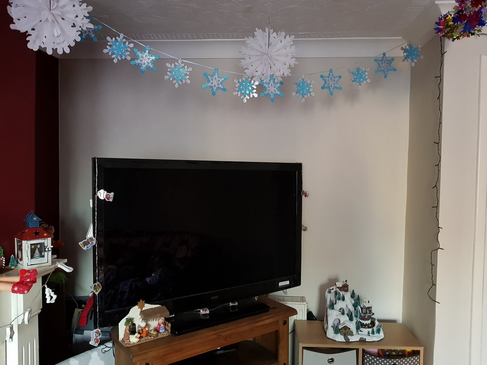 TV corner decorations