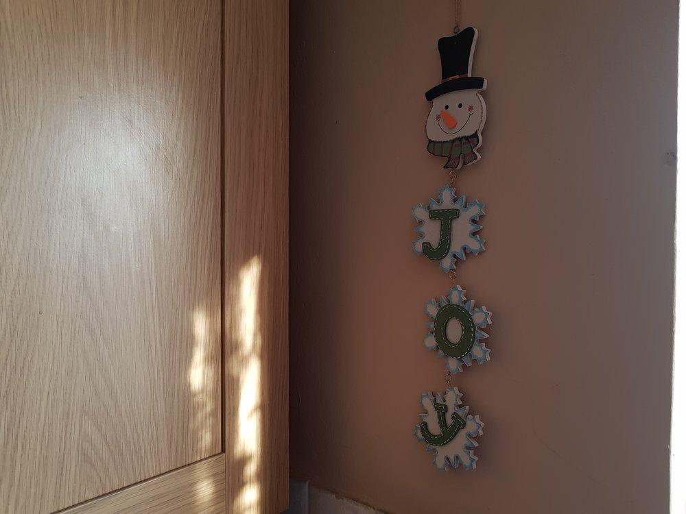 Snowman JOY decoration