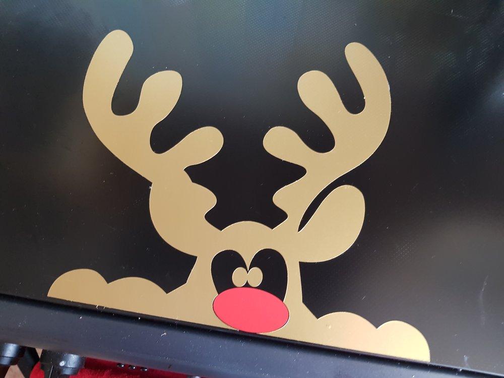 Rudolph oven sticker