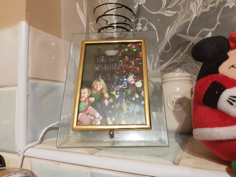 Christmas photo framed