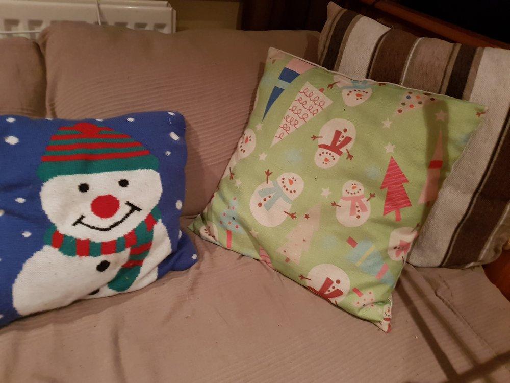 Christmas sofa cushions