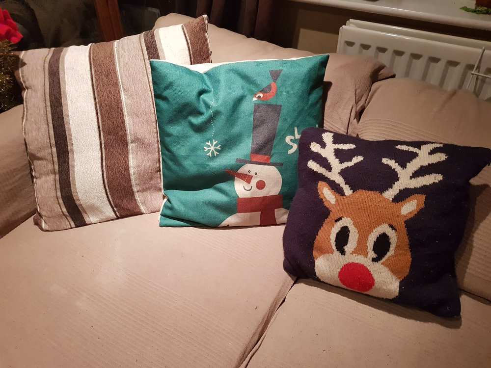 Christmas sofa cushions