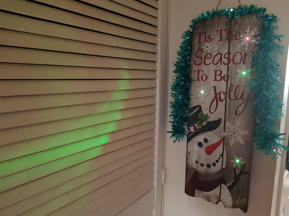 Light up snowman driftwood hanging decoration