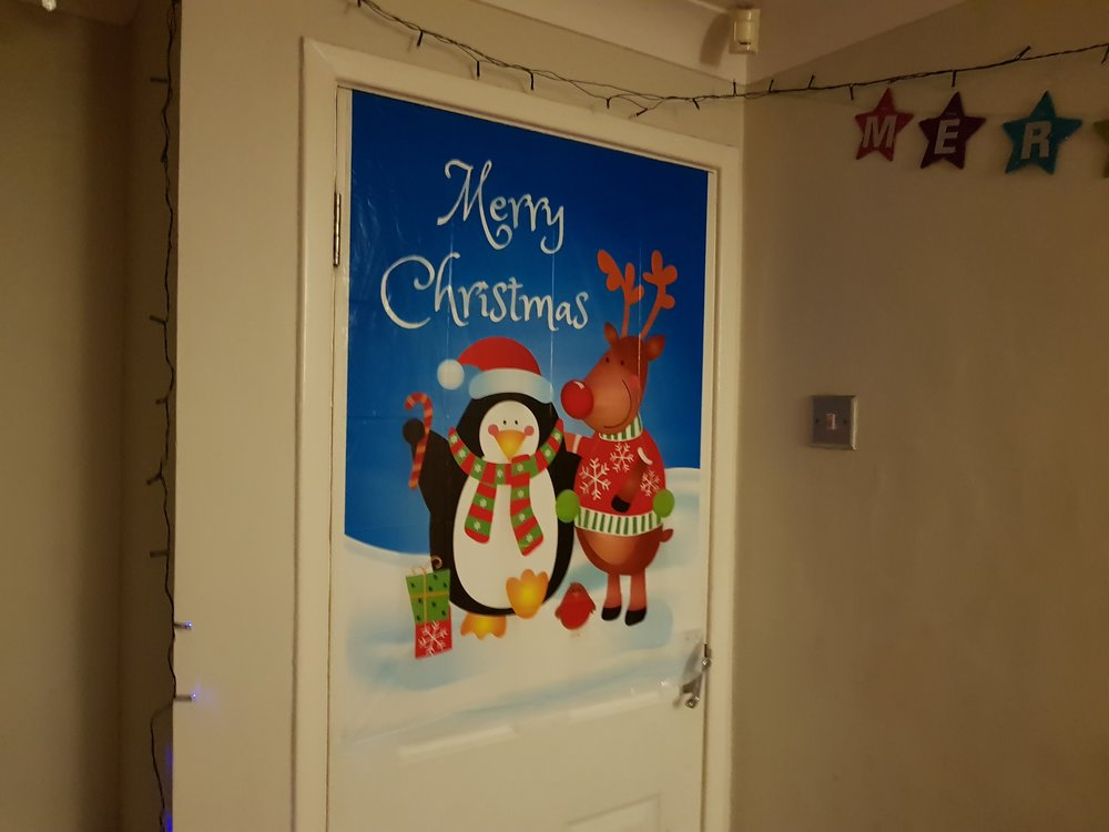 Merry Christmas door cover