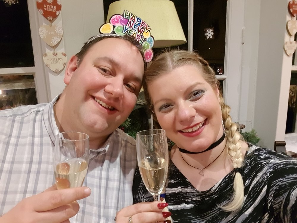 New Year's champagne with my husband