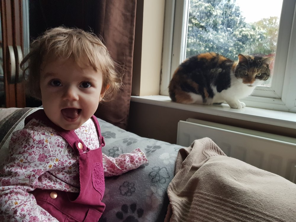 My Little girl and her cat best friend