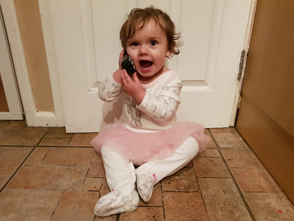 My toddler loves chatting away on a phone