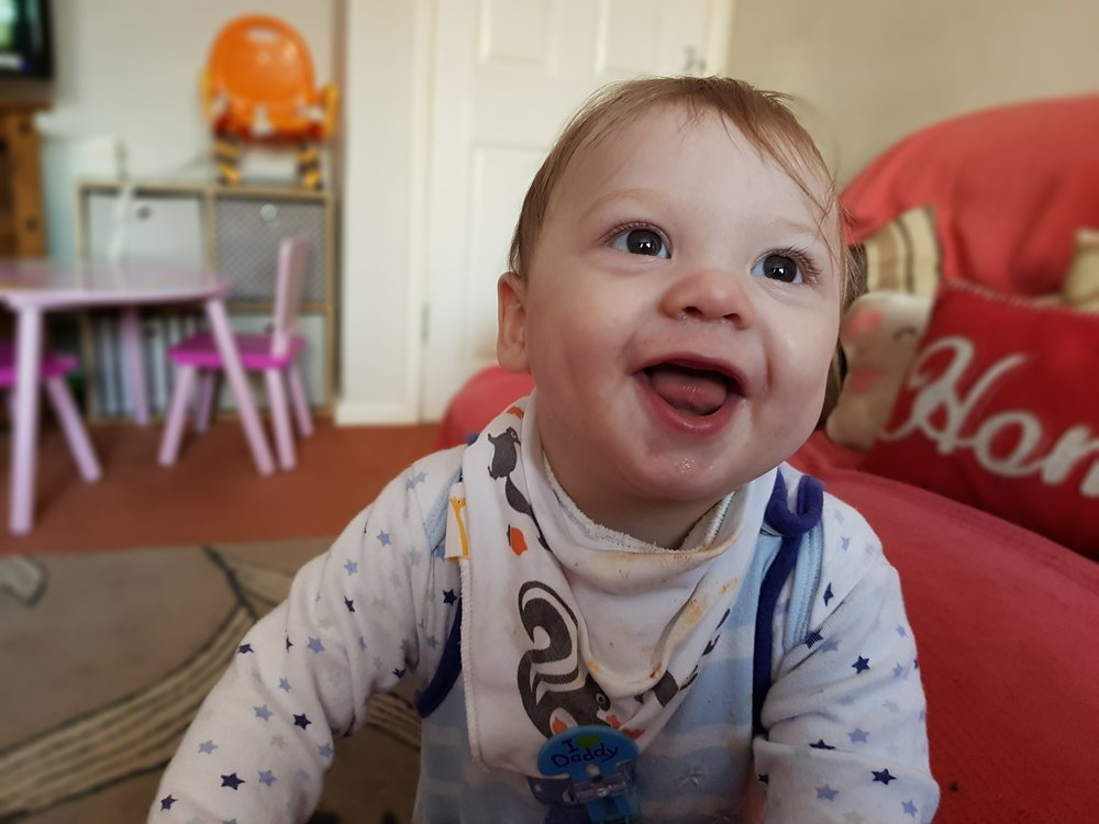 Gorgeous smiley baby Lucas