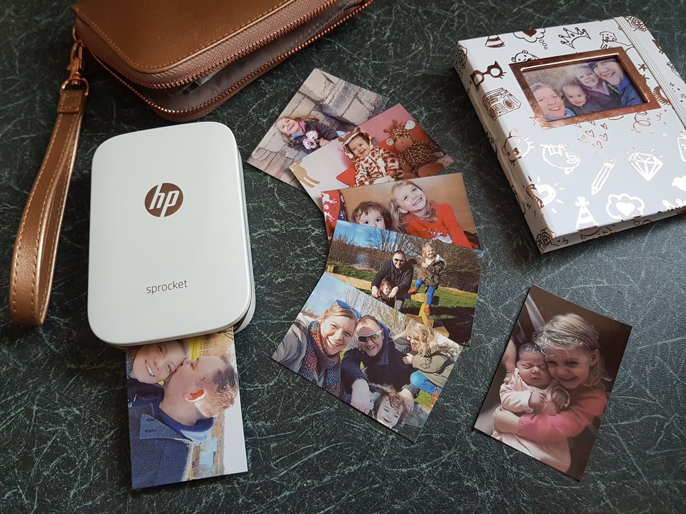 HP Sprocket family photo printing
