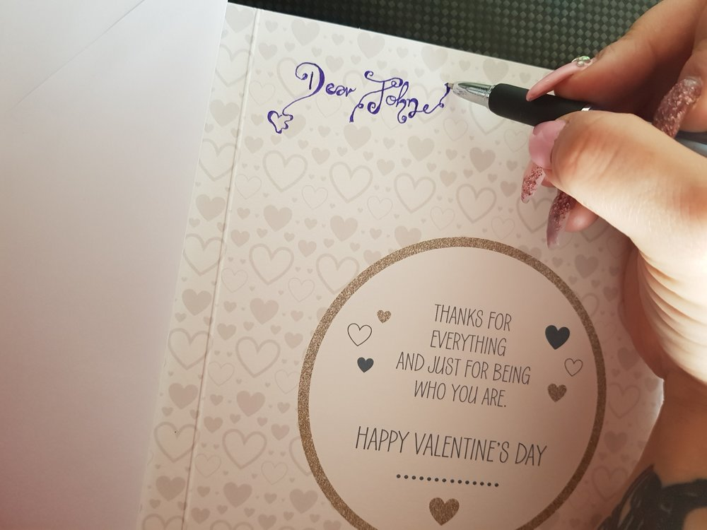 Inside my hubby's Valentine's Day card
