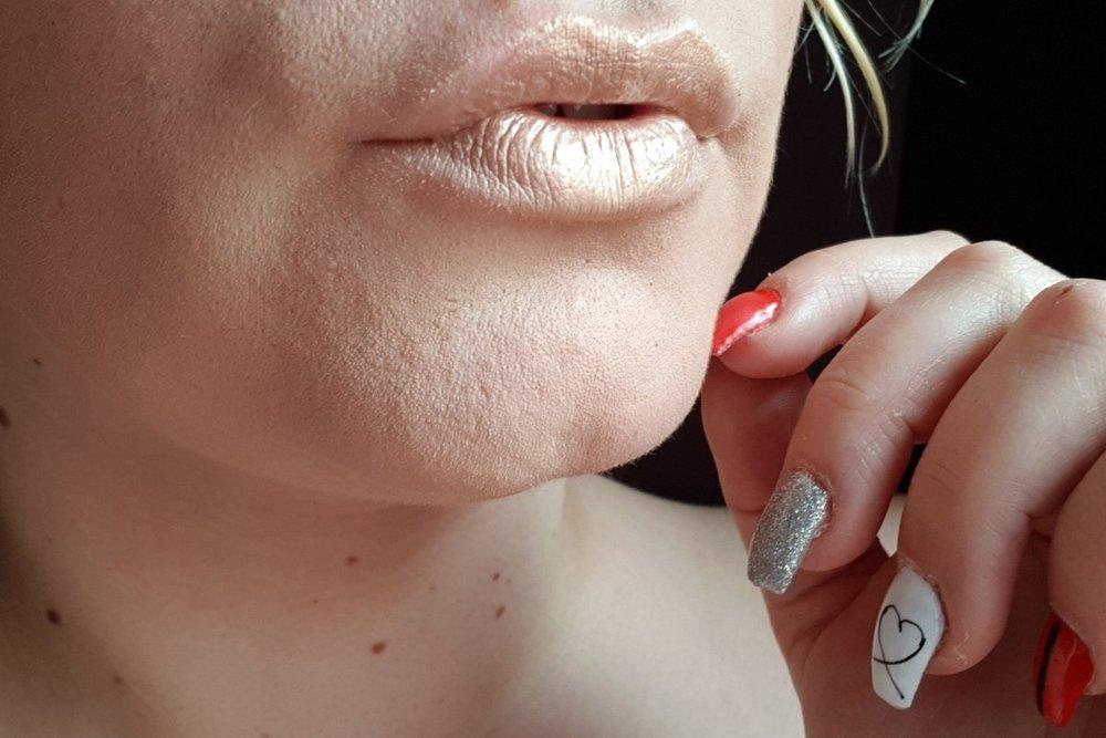 Primark gold metallic lipgloss