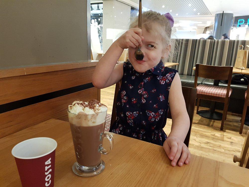 Hot chocolate in Costa