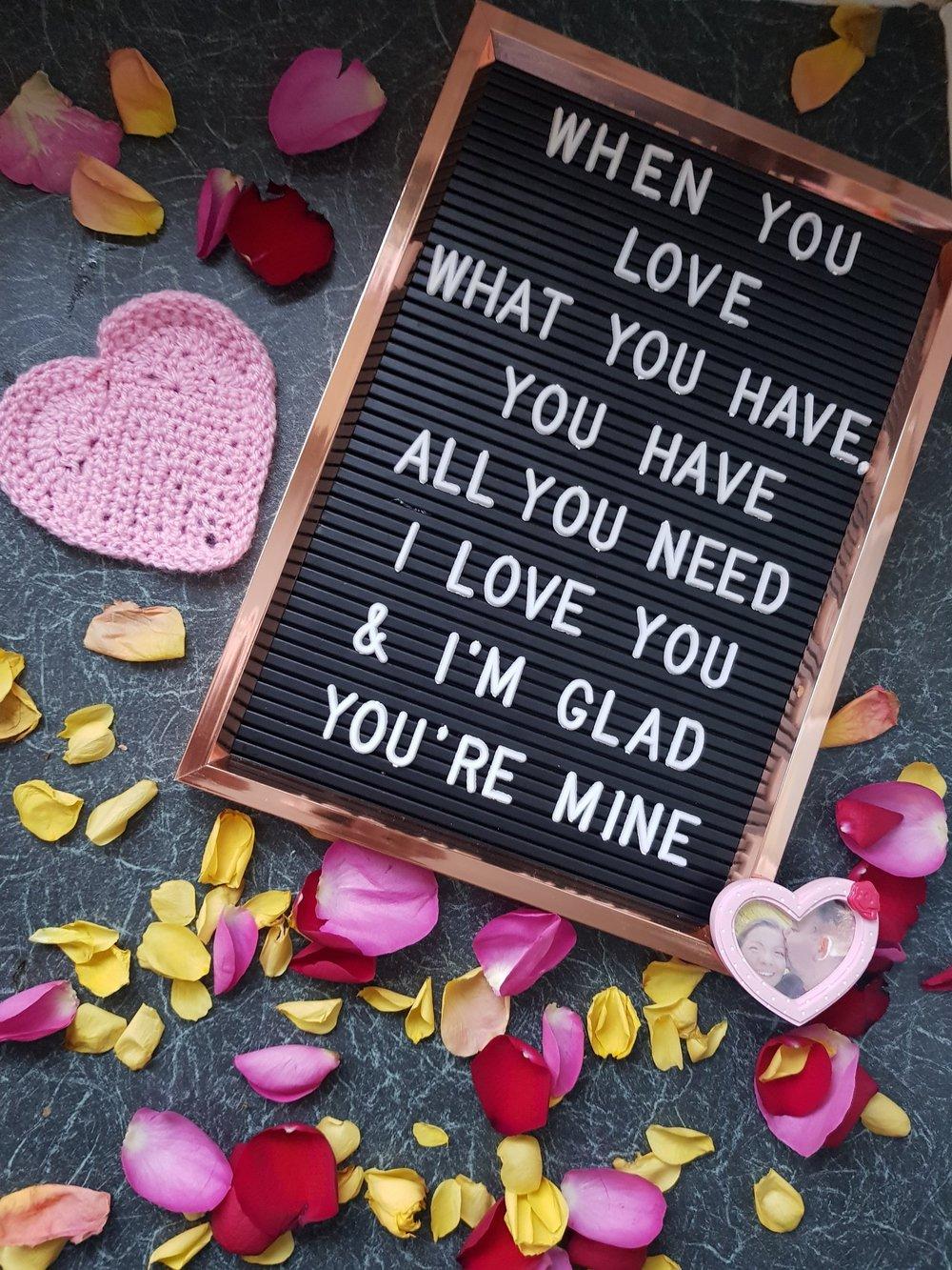 Primark copper peg letter board love message